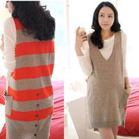 Autumn maternity clothing maternity top maternity sweater vest skirt hc-d7230