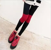 Free shipping Show Thin Cotton Leggings  For Women  Sexy  Legging  Patchwork Wholesale Price K614