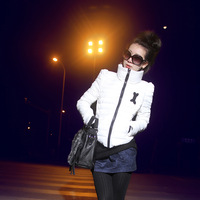 plus size slim cotton-padded jacket wadded jacket outerwear female autumn and winter short design
