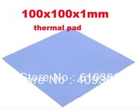 FREE SHIPPING 2pcs/lot 100x100x1mm Blue BGA Thermal Pad,GPU CPU Heatsink Cooling Mat,Conductive Silicone thermal mat