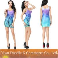 Xinshixin textile myvatn color block all-match water wash comfortable dress basic slim hip dress one-piece dress