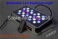 Newest Auto Remote 72W Dimmable Led Aquarium Light UV For Coral Reef Aqua Plant Growing Lighting Sunrise Sunset Hotsale