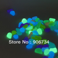 Promotional 10 pcs Luminous Light-emitting Artificial Pebble Stone Fish Tank Decoration