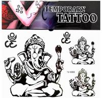 Free ship/5pcs/lot/YM-K086,fake tatoo,arm,waist,back,/Thailand elephant,Cartoon elephant/waterproof,Rub-on transfer/CE