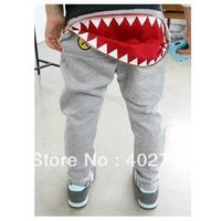4 pcs/lot children pants 3-7 years children clothing 2 colors big mouth harem pants kids loose trousers  TLZ-K0031