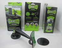 Fedex Free Shipping Wholesale GripGo grip go Universal Car phone holder mount As seen on TV