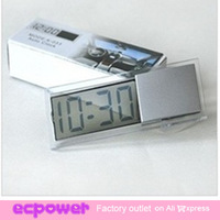 Top Fashion Digital Car Clock Car Electronic Clock Mini Durable Transparent LCD Display Digital with Sucker 20pcs/lot