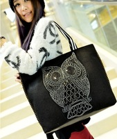 Free/drop shipping 2014 Hot sale PU women luxury messager bags quality owl bag women leather handbag KKX43