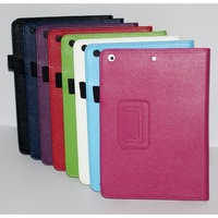 Folio Folding Flip Portfolio Ultra Slim Smart Magnetic Leather Case Cover for iPad air iPad 5 Free Shipping