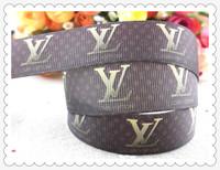 2013 new arrival 7/8''  22mm brand printed grosgrain ribbon logo ribbon gift packaging ribbon 10 yards WQ1004