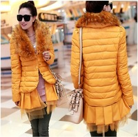 2014 Hot cheap free shipping fashion casual thin lace short paragraph Slim Down coat wholesale women