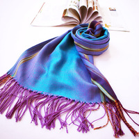 2014 free shipping National wind jacquard lady scarf Gradient stripe scarves jacquard scarf wholesale personality
