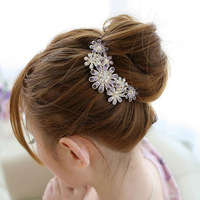 Free Shipping Pearl Crystal Royal Wedding Bride Flower Hair hoop Bride Hair Accessories