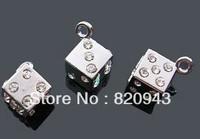 50pcs Rhinestone boson Hang Pendant Charm Fit Diy Phone Strips Wristband & Necklace