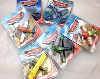 6 models metal planes with light , mustic and Blister card packaging