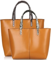 Cowhide women handbag 2013 vintage one shoulder portable bucket bags women bags handbags genuine leather women famous brands
