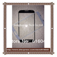 Free shipping 10PCS/LOT Glass lens touch Screen FOR Samsung Galaxy S4  white & blue color