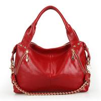 2013 women handbag genuine leather fashion cowhide fashion chain shoulder bags one shoulder cross-body women messenger bags