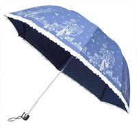 Qiutong structurein , apollo three fold umbrella lovers pattern folding umbrella laciness princess umbrella