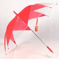 Poe qiutong windmill umbrella transparent umbrella transparent umbrella long-handled umbrella automatic