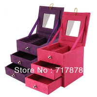 Ring Necklace Bracelet Jewellery Display Storage Vintage Box Case Organiser New Free shipping