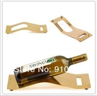 1pc Gold Plated Red Wine Bottle Single Square Rack & Stand for Home or Commercial Use K2316