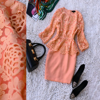 2014 spring and summer new arrival women's crotch cutout l53817h twinset one-piece dress
