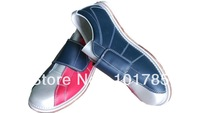 2014 Spring  genuine leather velcro bowling shoes with Christmas gifts