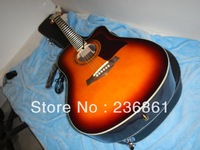 wholesale Free shipping Top quality taylor 310 sunburst Acoustic electric guitar with CASE