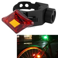 USB Rechargeable 3-Mode 2-LED Red  Bike Light Bicycle Taillight