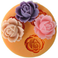 cheap  silica gel resin flower polymer clay flower mould cake decoration handmade candy  soap moulds cooking tools