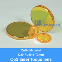 [Factory In Stock] Best quality 20mm ZnSe Focus Lens for CO2 Laser 50.8mm focal