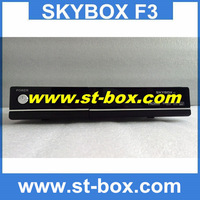 4pcs free shipping by FEDEX !Original Skybox F3 HD digital satellite receiver full 1080pi support usb wifi weather forecast