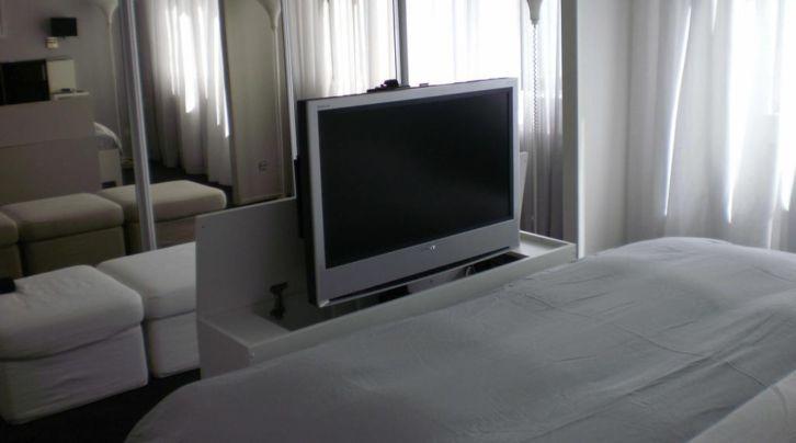 Tv standt massivholz tv-möbel mit motor 600mm 2000n 24v tv lift antrieb