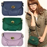 BEST SELLER!Faux Leather Turn Lock Shoulder Sling Handbag Crossbody Bag YBG-0039890 Freeshipping