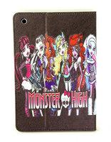 New fashion Cute cartoon Anime Monster high Flip Stand pu Leather phone Case Cover for Apple ipad  mini or ipad air 5 07200