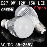 E27 LED Bulb Light Lamp Dimmable / Non-dimmable 9W  12W 15W 100pcs/Lot  Factory diectly sale
