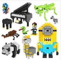 gift  loz blocks models & building toys plastic children diy Assembles Particles Block cartoon