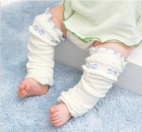 2014 New Baby Leg Warmers For Girls Cotton Kneepad Sock Pink And White For Choose 4 Pairs/Lot