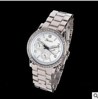 hot sale 2013 GENEVA women dress watches GENEVA rhinestone wathes stainless steel men quartz watches top brand high quality