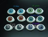 60Pcs(30pair) Half Oval Plastic Doll Eyes  Mix color  BJD EYES 10*14.5mm  Wholesale A00841