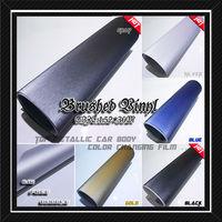 Dark grey brushed aluminum vinyl car wrap,1.52*10M