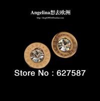 High Quality Titanium Steel 18K Rose Gold Plated Rhinestone Designer For Pierced Ears