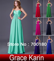 Free Shipping 2013 Floor Length Strapless Elegant Party Evening Dress Chiffon Prom Wedding Gown CL4101