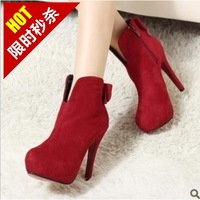 2013 shoes princess high-heeled boots bow thin heels high-heeled platform boots
