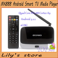 Newest!! CS918(MK888 K-R42) Android 4.2 TV Box RK3188 Quad Core 2GB/8GB Mini PC Smart TV Media Player with Remote Controller