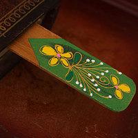 Beautiful bookmark national personality trend mango wood bookmark brown