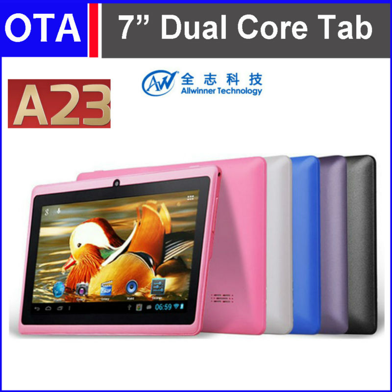 "New 7"" Dual Core A23 All Winner Tablet PC Android 4.2.2 Tablet 512MB 4GB Dual Cameras WiFi Play Store USB port free shipping(Hong Kong)"