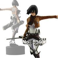 "4.7"" Shingeki No Kyojin Attack On Titan Mikasa Ackerman PVC Figure Doll Gift New Free Shipping"