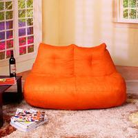 FREE SHIPPING orange love seat beanbag chair modern love seat luxury SUEDE fabric bean bag chair bean bag sofa bean bag cover